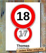 Geburtstags-Tempolimit-Doppelpack 18 Jahre